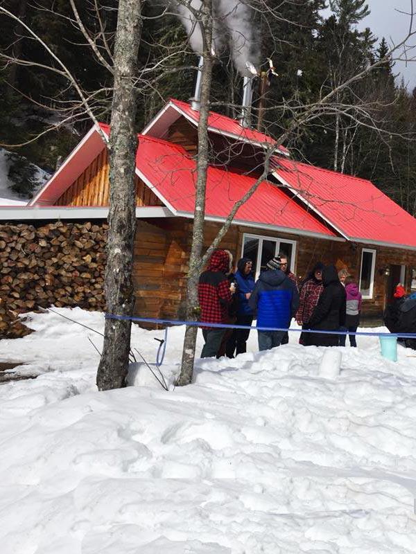 Activités cabane à sucre à l'Auberge du Vieux Moulin, vacances Lanaudière