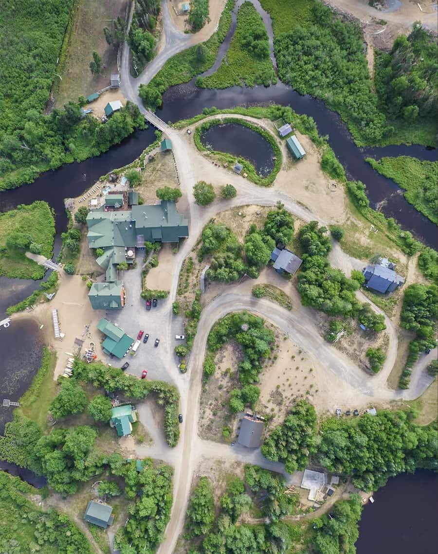 Photo aérienne de l'Auberge du Vieux-Moulin